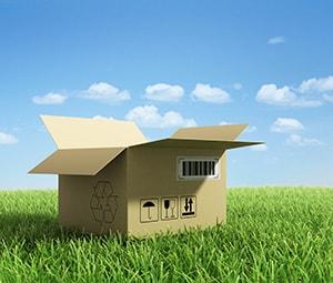 Duurzaam verhuizen afbreekbaar verpakkingsmateriaal