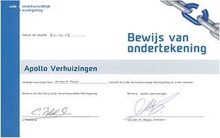 Code Verantwoordelijk Marktgedrag Certificaat